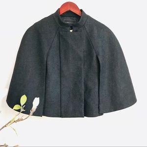BCBG Maxazria wool poncho jacket